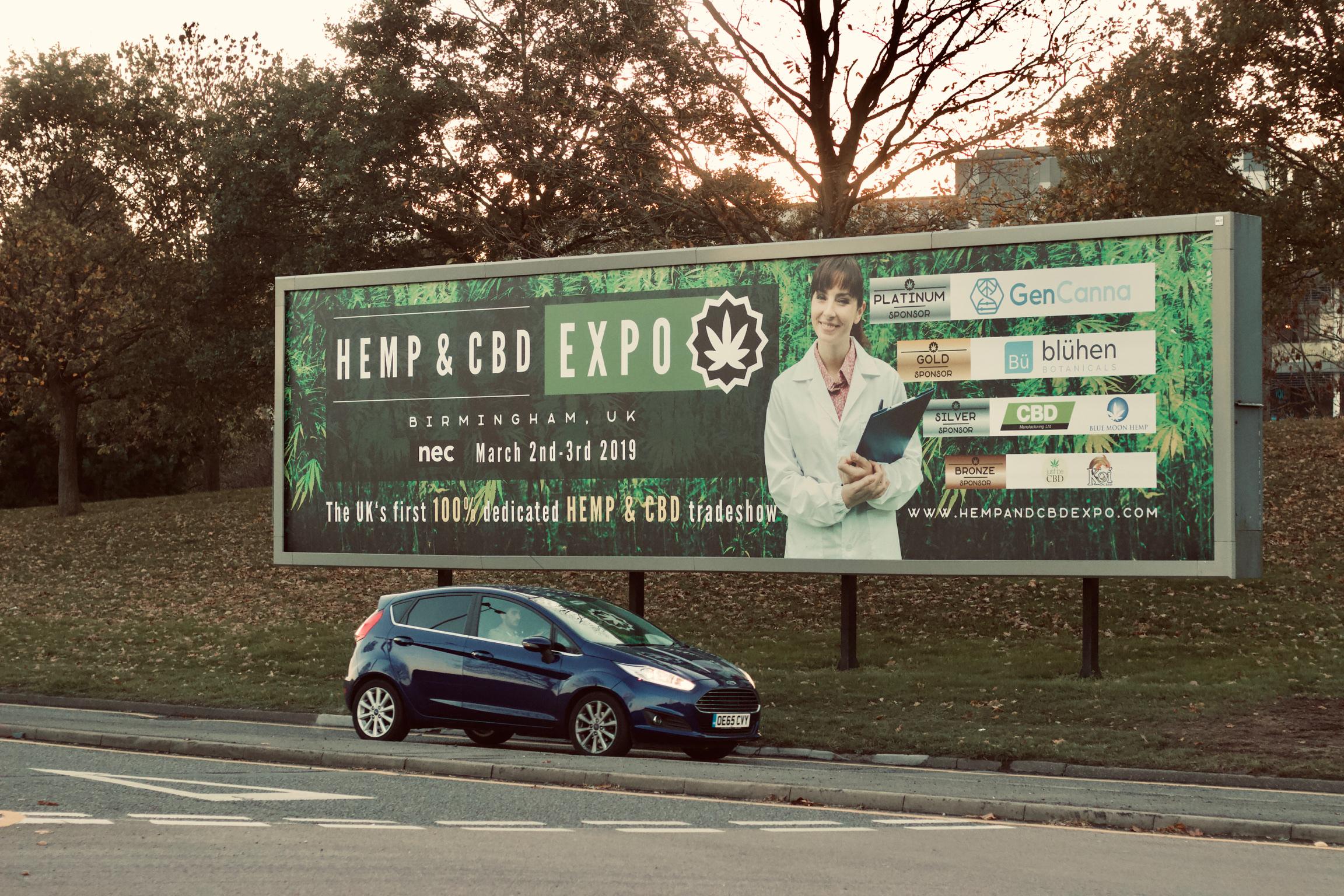hemp and cbd expo billboard