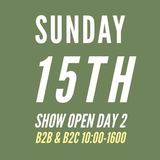 Sunday 15th 10:00-16:00b B2C & B2C hours
